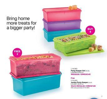Party keeper set tupperware