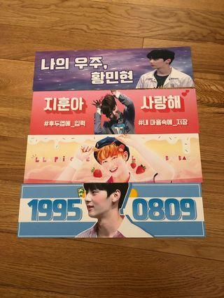 Wanna One Concert Banners