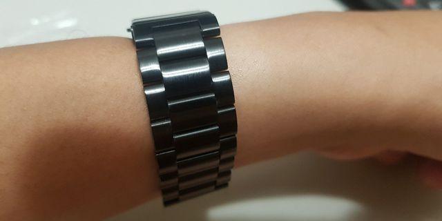 🚚 通用 20mm 不銹鋼 金屬 錶帶 gear sport s2 米動手錶 ticwatch