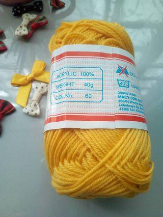 Yarn/benang kait. (Minlon)
