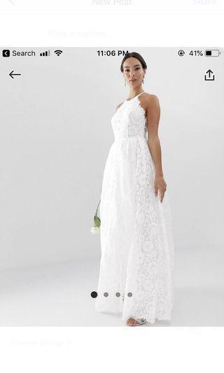 Asos edition halter neck maxi dress