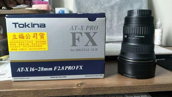 Tokina AT-X 16-28mm  F2.8 超廣角鏡,for canon