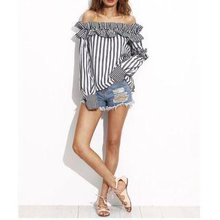 [SELL] SHEIN OFF SHOULDER FRILL TOP