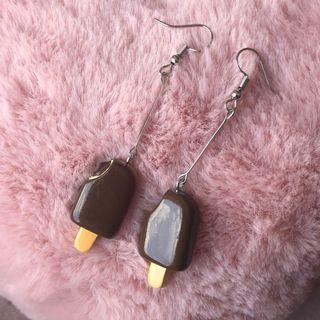 #A5 Icecream earring (Chocolate)