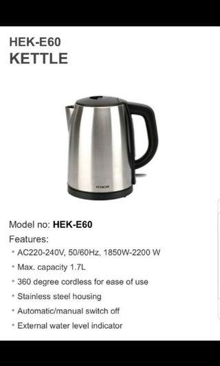 Hitachi Stainless Steel 1.7L Kettle