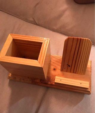 Wooden Card & Stationery Holder