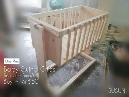 Swing cribs
