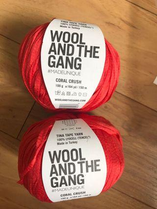 Wool and the Gang- Tina Tape Yarn in Coral Crush