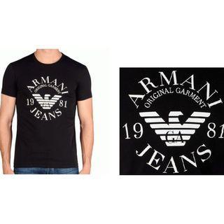 【保證真品】Armani Jeans AJ Extra Slim 極修身 經典仿舊logo 長袖T侐 實品拍攝