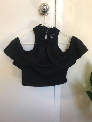 Forever new black crop top