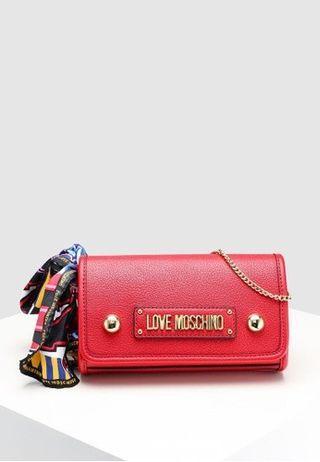 Love moschino textured grain sling bag