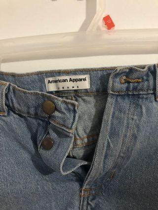 American apparel denim.mom.shorts size 24