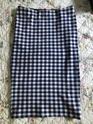 Pull&Bear Checkered Skirt