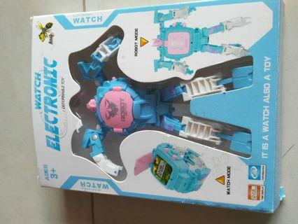 🚚 Robot electronic watch deformable toy