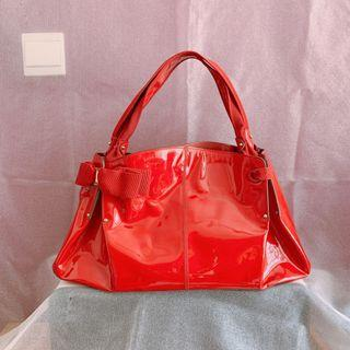 Salvatore Ferragamo Patent Leather Tote Bag 👜