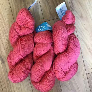 Cloudborn Fiber: Merino Sock Twist in Coral