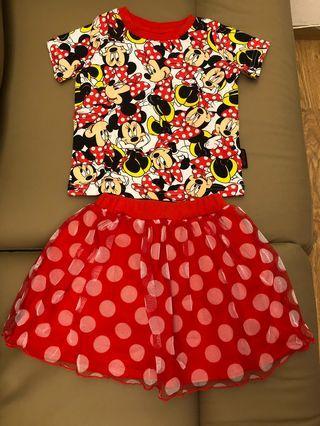 Disneyland Minnie衫裙套裝