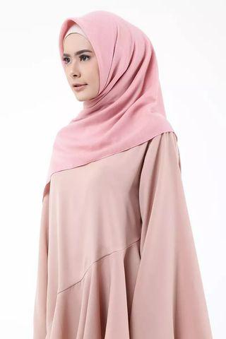 Hijup Basic Voal Square - Dusty Pink