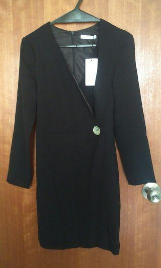Mango button wrap suit dress
