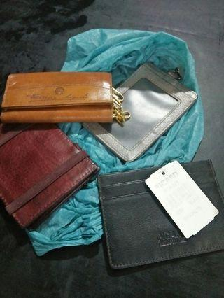 Picard card holder..Aigner case lock.. Massimo dutti card holder
