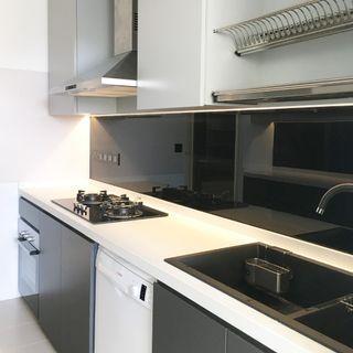 (S20) monochrome kitchen cabinet