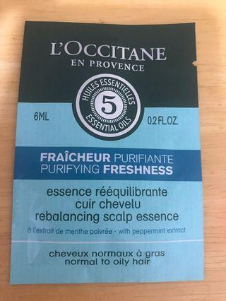 Loccitane rebalancing scalp essence 6ml