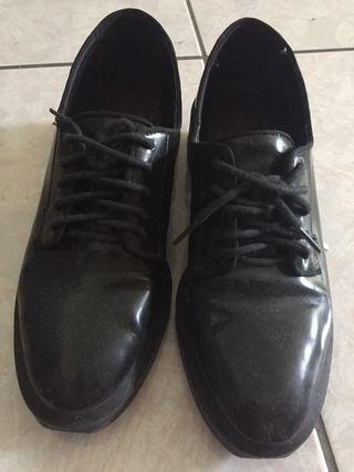 Zara 皮鞋 五公分高 36碼