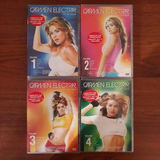 Carmen Electra's Strip To Fit Workout Dance DVD Collection 1-4