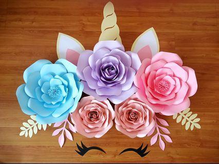 Unicorn🦄Paper Flower Set