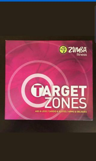 Zumba Fitness Target Zones DVD Workout Collection 3 DVD Set
