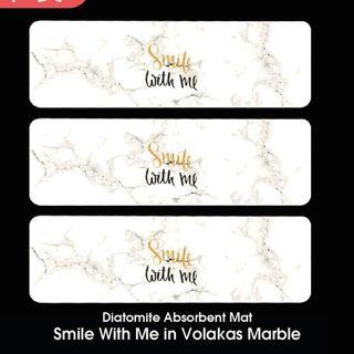 🚚 Smile with me in Volakas Marble Diatomite Absorbent Mat
