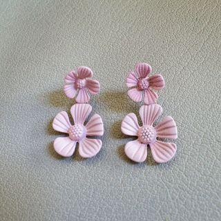 [Instock] Blossom Floral Earrings in Pink