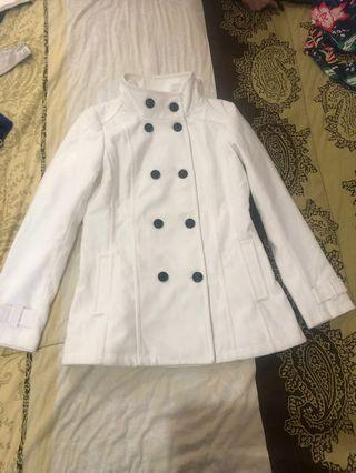 White Guess Coat