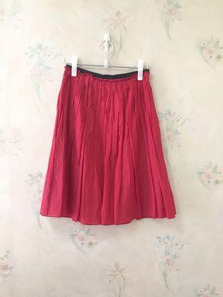 Rope 紅色 半腰裙