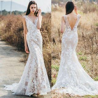 Wedding Dress Floral Appliqué
