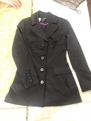 Bebe Black Blazer Coat