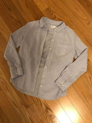 Gap Boyfriend Fit Striped Shirt (Size XS)