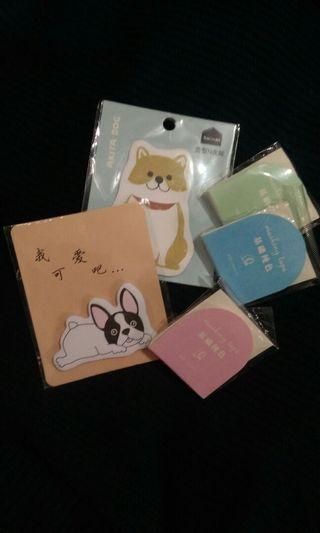 Sticky Notes and Washi Tapes