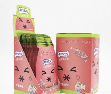 Green Orange and Fresh peach Flavor Sugar Free Mint Candy   ( 1 pack $1.50,1 Box(10pack) $13.00)