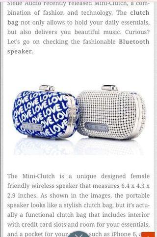 Stelle Audio Bluetooth 💙💙Blue LOVE Speaker