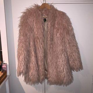 Cue Faux Fur Blush Coat