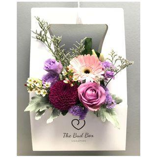 Gerbera, Rose and Pom Pom Bloom Box