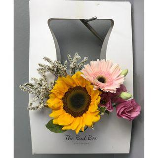 Sunflower and Pink Gerbera Bloom Box