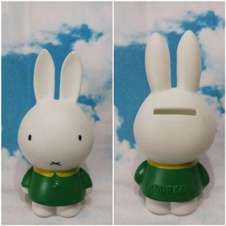 Miffy日本 ASAHI銀行錢箱   12cm高 非 Kitty