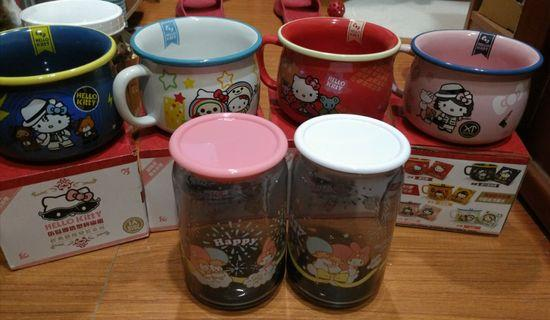 kitty 碗 跟 雙子星玻璃罐