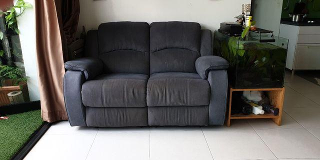 2seater full recliner sofa