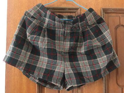 (含運)Queen shop格紋短褲