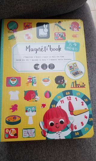 100%new Janod Magnetic Book 磁石書 時間 法國品牌