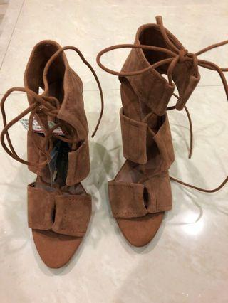 Zara 3inches Brown Color heels