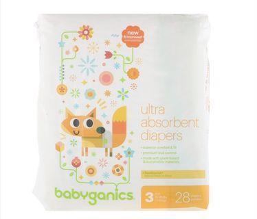 🚚 BN Babyganics Ultra Absorpbent Diaper size 3 (7 to 13kg)